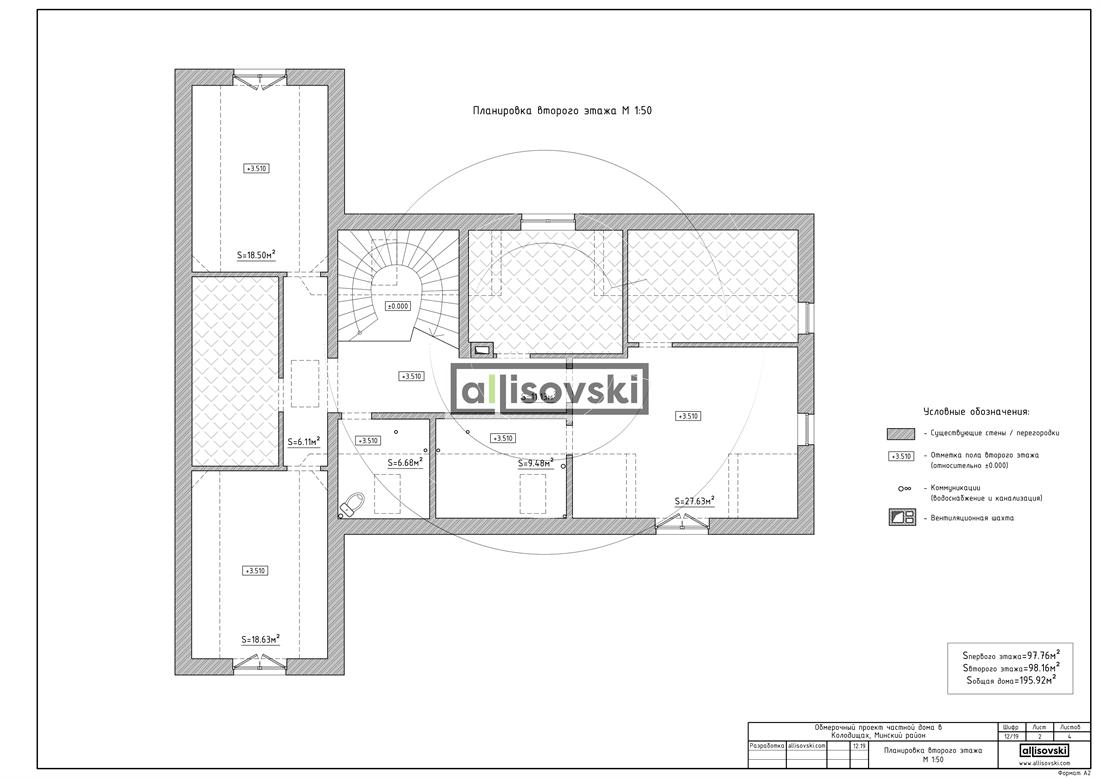 Обмер первого этажа